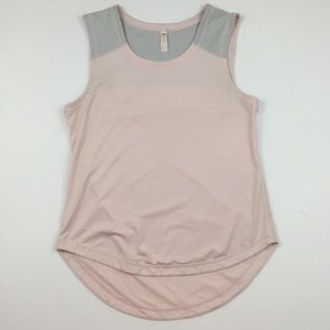 LUCY Powder Pink & Gray Color Block Athletic Tank